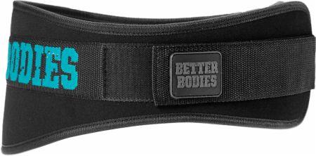 Image of Better Bodies Women's Gym Belt Large Black/Aqua