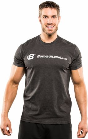 Image of Simple Classic Tee Charcoal Large - Men's T-Shirts Bodybuilding.com Clothing