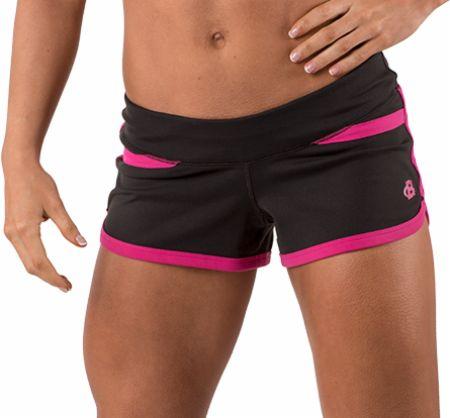 Image of Bodybuilding.com Clothing Women's Bootyfull Short XS Black/Fuchsia Rose