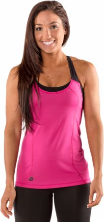 Image of Bodybuilding.com Clothing Women's Built For Speed Tank Large Fuchsia Rose