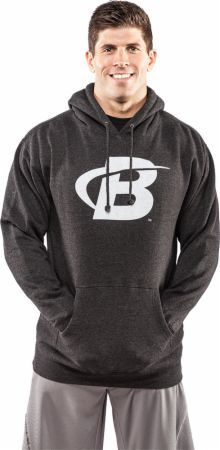 Image of Bodybuilding.com Clothing B Swoosh Pullover Hoodie XL Charcoal Heather