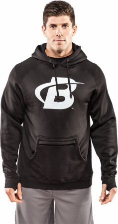 Image of Bodybuilding.com Clothing B Swoosh Poly Tech Pullover Hoodie XL Black