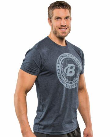 Image of Bodybuilding.com Clothing B Swoosh Academia Tee Large Midnight Navy
