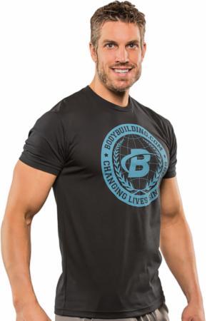 Image of Bodybuilding.com Clothing B Swoosh Academia Tee Large Black