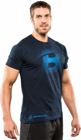 Image of Bodybuilding.com Clothing B Faded Tee Large Midnight Navy