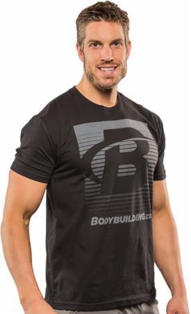 Image of Bodybuilding.com Clothing Blend In Tee Large Black/Grey