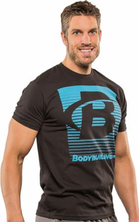 Image of Bodybuilding.com Clothing Blend In Tee Medium Black/Turquoise