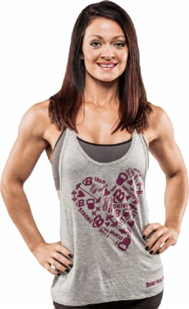 Women's Fitness Love Stringer Tank