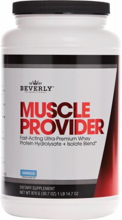 Image of Muscle Provider Protein Powder Vanilla 870 Grams - Low Carb Protein Beverly International