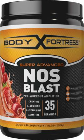 Body Fortress Super NOS Blast Fruit Punch 16 Oz. -...
