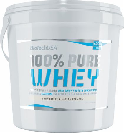 Image of Biotech USA 100% Pure Whey 4000 Grams Bourbon Vanilla