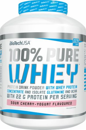 Image of Biotech USA 100% Pure Whey 2270 Grams Sour Cherry-Yogurt