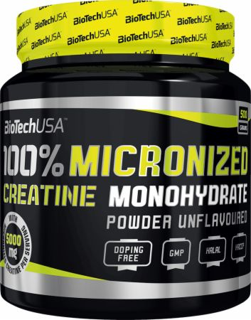 Image of Biotech USA 100% Micronized Creatine Monohydrate 500 Grams Unflavoured