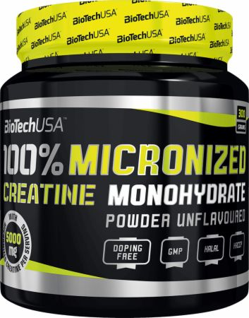 Image of Biotech USA 100% Micronized Creatine Monohydrate 300 Grams Unflavoured