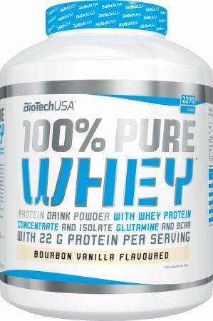 Image of Biotech USA 100% Pure Whey 2270 Grams Bourbon Vanilla