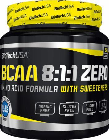 Image of BCAA 8:1:1 Zero Blue Raspberry 250 Grams - Amino Acids & BCAAs Biotech USA