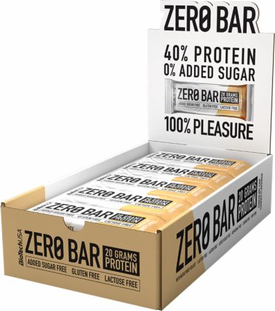 Image of Zero Bar Chocolate Chip Cookies 20 - 50g Bars - Protein Bars Biotech USA
