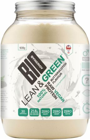 Image of Bio-Synergy Lean & Green Vegan Protein 908 Grams Butterscotch