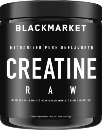 Image of RAW Creatine Monohydrate Unflavored 300 Grams - Creatine Blackmarket