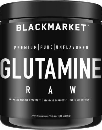 Image of RAW Glutamine Unflavored 300 Grams - Post-Workout Recovery Blackmarket