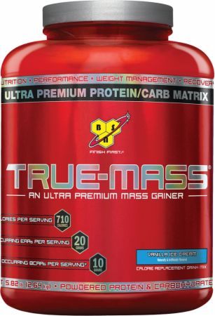 BSN True-Mass Vanilla Ice Cream 5.82 Lbs. - Weight Gainers