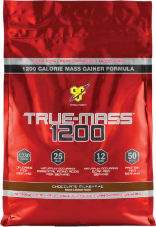 BSN True Mass 1200 Chocolate Milkshake 15 Servings - Weight Gainers