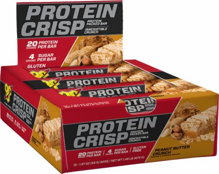 BSN Syntha-6 Protein Crisp Peanut Butter Crunch 12 Bars - Protein Bars