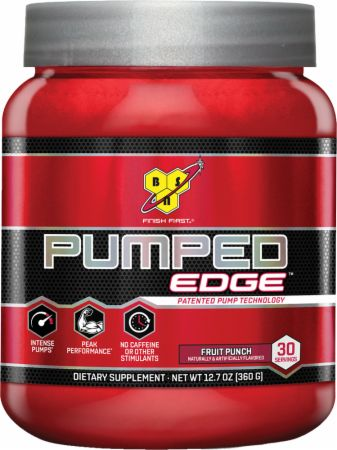 BSN Pumped Edge Fruit Punch 30 Servings - Stimulant Free Pre-Workout