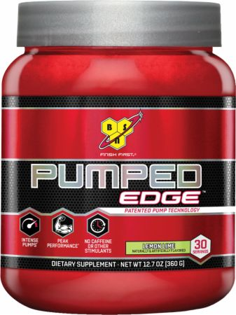 BSN Pumped Edge Lemon Lime 30 Servings - Stimulant Free Pre-Workout