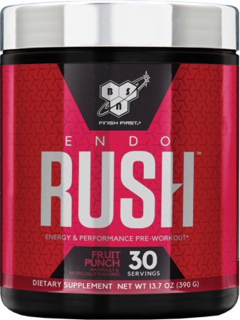 EndoRush Fruit Punch 30 Servings - Pre-Workout Supplements BSN