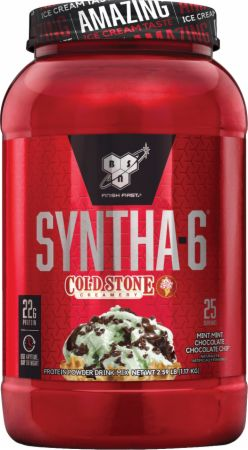 Image of Syntha-6 Whey Protein Powder Mint Mint Chocolate Chocolate Chip 2.59 Lbs. - Cold Stone Creamery® Series - Protein Powder BSN