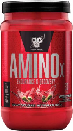 Image of AMINOx BCAA Watermelon 30 Servings - Amino Acids & BCAAs BSN
