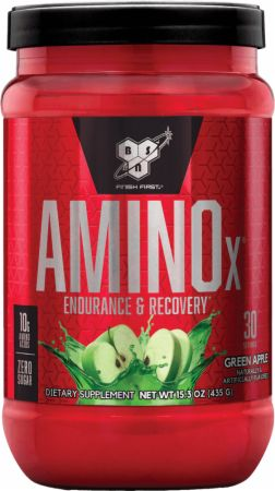 Image of AMINOx BCAA Green Apple 30 Servings - Amino Acids & BCAAs BSN