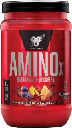 Image of AMINOx BCAA Fruit Punch 30 Servings - Amino Acids & BCAAs BSN