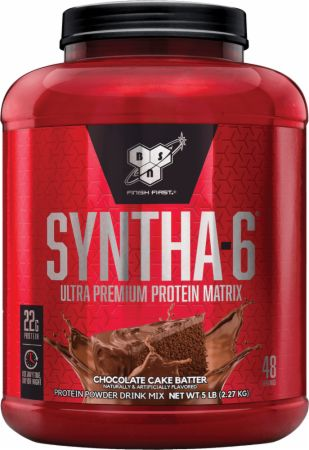 BSN Syntha-6 Chocolate Cake Batter 5 Lbs. - Protein Powder...