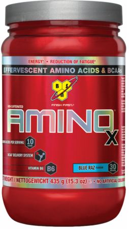 Image of AMINOx Blue Raz 30 Servings - Amino Acids & BCAAs BSN