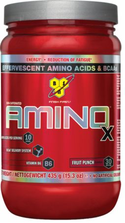 Image of AMINOx Fruit Punch 30 Servings - Amino Acids & BCAAs BSN