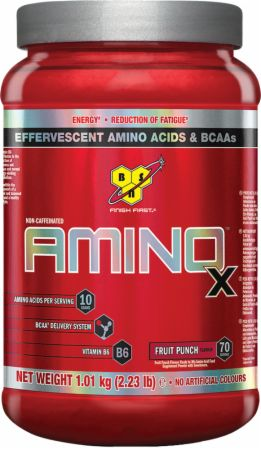 Image of AMINOx BCAA Fruit Punch 70 Servings - Amino Acids & BCAAs BSN