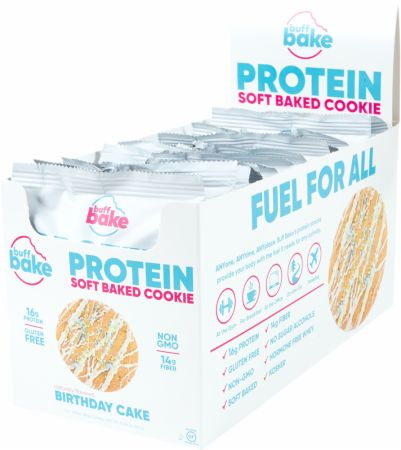 Protein Cookie Birthday Cake 12 - 2.8 Oz. Cookies - Healthy Snacks & Foods Buff Bake