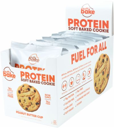 Protein Cookie Peanut Butter Cup 12 - 2.8 Oz. Cookies - Healthy Snacks & Foods Buff Bake