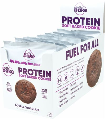 Protein Cookie Chocolate Chocolate Chip 12 - 2.8 Oz. Cookies - Healthy Snacks & Foods Buff Bake