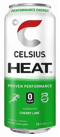 Image of HEAT Cherry Lime 12 - 16 Fl. Oz. Cans - Pre-Workout Celsius