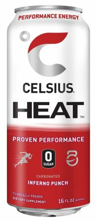 Image of HEAT Inferno Punch 12 - 16 Fl. Oz. Cans - Pre-Workout Celsius