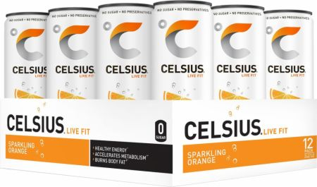 Image of CELSIUS Sparkling Orange 12 - 12 Fl. Oz. Cans - Energy Drinks Celsius