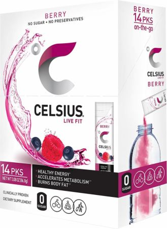 Image of CELSIUS Berry 14 Stick Packs - Energy Drinks Celsius
