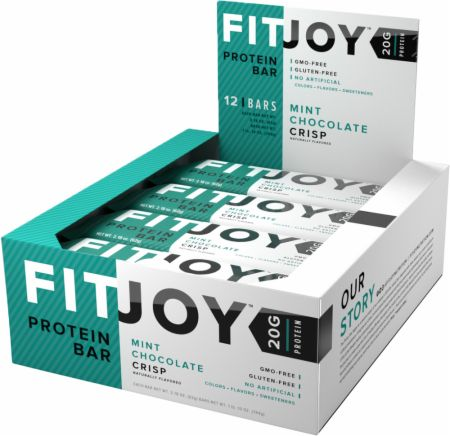 FitJoy FitJoy Bars Mint Chocolate Crisp 12 Bars - Protein Bars