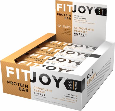 FitJoy FitJoy Bars Chocolate Peanut Butter 12 Bars - Protein Bars