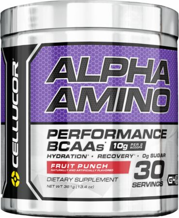 Image of Alpha Amino Fruit Punch 30 Servings - Amino Acids & BCAAs Cellucor