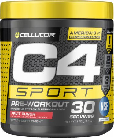 Image of C4 Sport Fruit Punch 30 Servings - Pre-Workout Cellucor