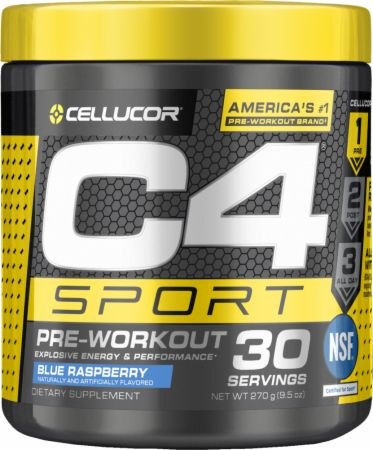 Image of C4 Sport Blue Raspberry 30 Servings - Pre-Workout Cellucor